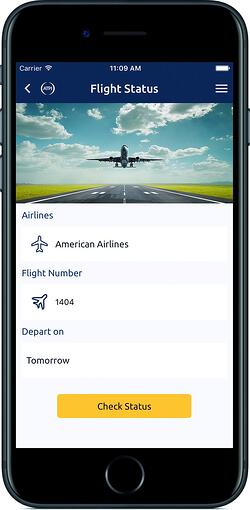 ATPI On the Go Travel App - Flight Status 1